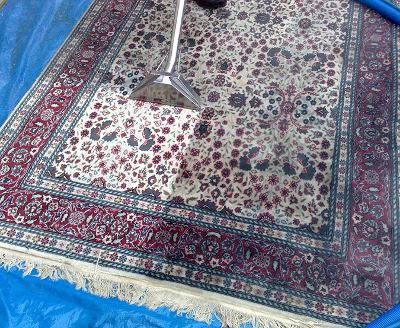 cleaning an oriental rug